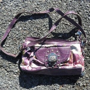 Pocket book purse handbag purple Kathy Zeeland